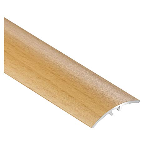 CEZAR W-AL-LW30-B-090 Schutzleiste/Übergangsschiene/Übergangsprofil mit Laminat/Holzdekor Buche mit Dübeln schmal 30mm
