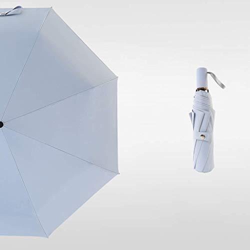 YNHNI Parasol al Aire Libre portátil Ligero Paraguas para Las Mujeres para Hombres, niños, protección contra el Viento a Prueba de Viento,Portátil (Color : Gray)