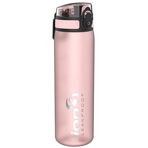 Ion8 Auslaufsichere Schlanke Trinkflasche, BPA-frei, Rose