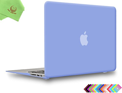 UESWILL Smooth Matte Hard Shell Case Cover Compatible with MacBook Air 11 inch (Model A1370 / A1465) + Microfibre Cleaning Cloth, Serenity Blue