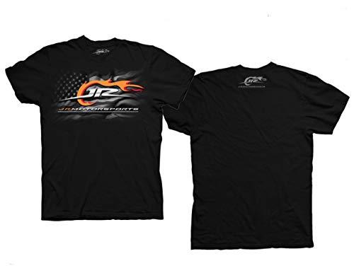 Checkered Flag JRM 2-Spot Graphic T-Shirt (Black, X-Large)