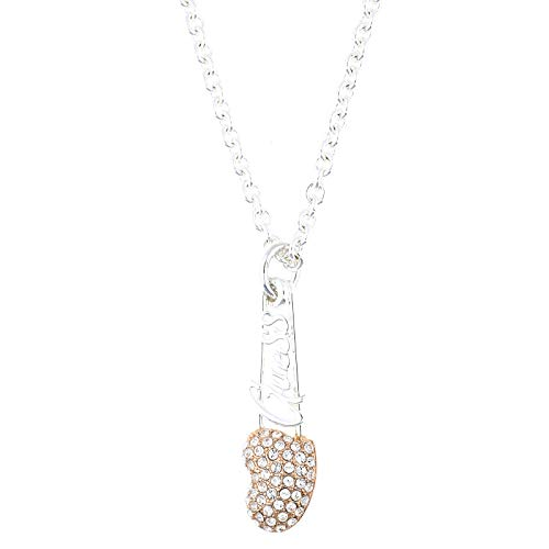 Guess Women's Necklace Silver/Rose Gold Metal UBN21107