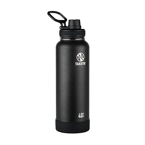 Takeya Actives isolierte Edelstahl-Trinkflasche Ausgussdeckel 40 oz onyx