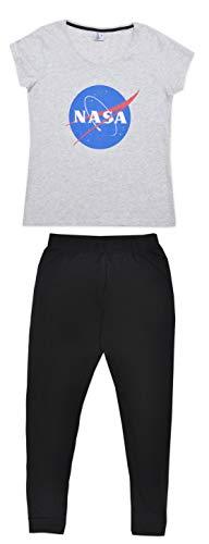 Nasa - Pijama para Mujer (algodón) Gris Gris L