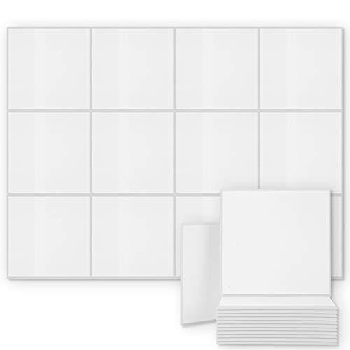 BUBOS 12 pacco Pannelli Fonoassorbenti, Pannelli Insonorizzanti, Correzione Acustica per Studio di registrazione Ufficio da 12 pezzi Misura 30 * 30 * 0.9cm (12 pacco, bianca)