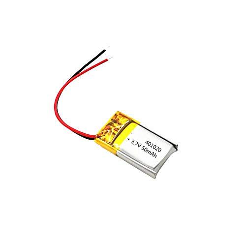 GzxLaY Batería de Respaldo de Alto Rendimiento 3.7v 50mah 401020 Batería Recargable de polímero de Litio para Juguetes Coches Altavoz Bluetooth Auriculares Bluetooth-4PCS (Color : 4pcs)