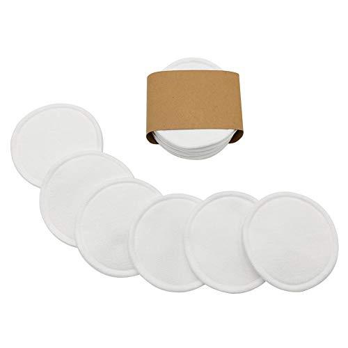 Tampons Démaquillants en Bambou Réutilisables, 10Pcs Disques Coton Démaquillant Lavable Rounds Pads pour Face Eye