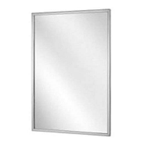 Bradley 781-024362 Roll-Formed Channel Frame Tempered Glass Mirror, 24' Width x 36' Height