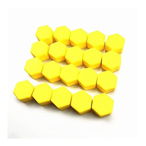 Accesorios para Automóviles Tornillos De Rueda Funda/Fit para - Geely / X7 Vision SC7 MK Cross Gleagle Bouns M11 Indis Muy GX7 SX7 Arrizo (Color Name : 19mm Yellow)