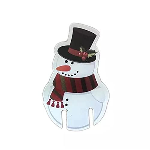 VENERDÌ 10 pz Natale Cup Card Decorazione di Natale Cappello di Babbo Natale Vino Decorazione Calice Decorazione Albero di Natale Decorazioni Home Party Decor Regalo Capodanno 2022