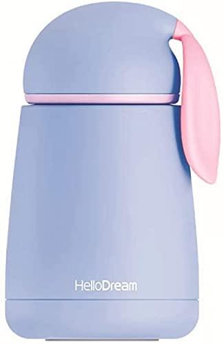 RRUUGK Aislamiento de vacío de Botellas de Agua Termo usando Taza Termo de Acero Inoxidable de Doble Pared para Bebidas Calientes y frías (Rosa) (Color : Azul)
