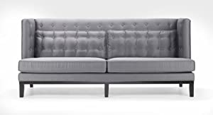 Excellent Urbanity Noho Sofa And Loveseat Set In Silver Satin Review Machost Co Dining Chair Design Ideas Machostcouk