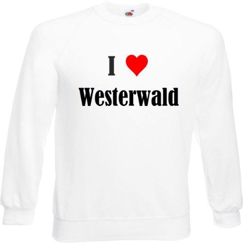 Reifen-Markt Sweatshirt I Love Westerwald Größe 2XL Farbe Weiss Druck Schwarz