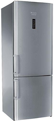 Hotpoint E2BYH 19323 F O3 Libera installazione 433L A++ Acciaio inossidabile frigorifero con congelatore, Senza installazione