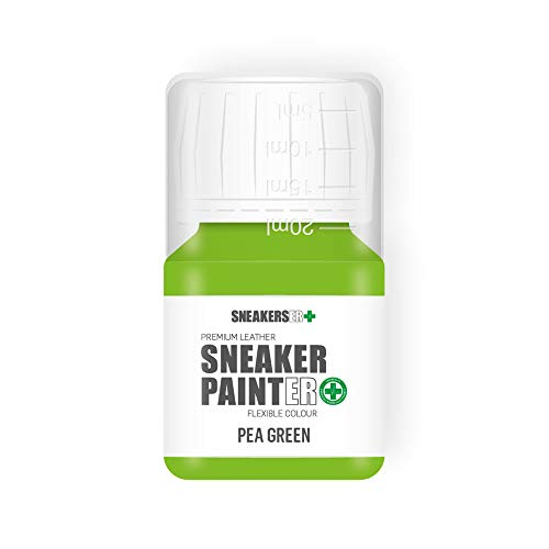 SNEAKERS ER SneakerPainter Premium - Pintura flexible para zapatos de piel (30 ml), color verde