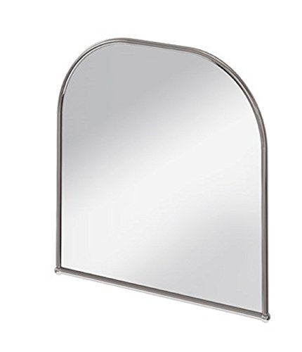 Burlington (Viktorianischer gebogener Spiegel Traditionelle 70cm x 70cm in Edelstahl