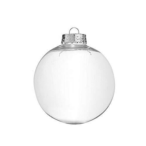 Bodhi200 0 bolas de adornos transparentes rellenables, de plástico transparente, para manualidades,...