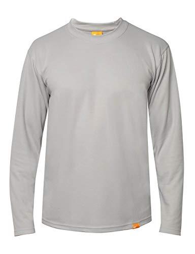 iQ-UV T-Shirt à Manches Longues pour Homme - Protection UV 50+ - Gris - Taille XL (54)