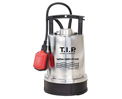 T.I.P. SaltOne 1600 I-PX DUO - Salzwasser-Tauchpumpe - 16.000 l/h, silber