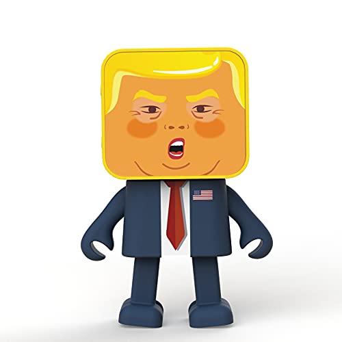 MOB Dansande trådlös högtalare med Trump-motiv, kopplas ihop med bluetooth och har integrerad handsfreefunktion