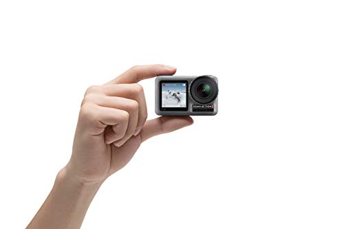 "Dji osmo action - 4k action cam 12mp digital camera with 2 displays 36ft underwater waterproof wifi hdr video 145° angle… 7 dual screens: osmo action's dual screens allow you to capture it all with the touch of a button. A vivid front screen lets you frame yourself effortlessly in any setting, while the back screen delivers a crystal-clear, hyper-responsive display. This durable, versatile action camera is jam-packed with advanced technology that lets you spend less time worrying about equipment and more time living the action. The rocksteady technology combines eis with complex algorithms, delivering stable, shake-free footage no matter how heavy the action gets. Action camera with 1/2. 3"" cmos sensor, 12mp, wide-angle 145° that allows you to shoot 4k hdr videos."