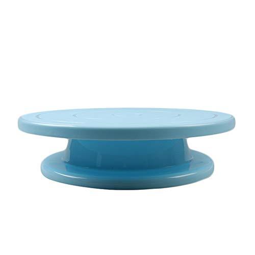 Walmeck- Plato Giratorio Pastel plástico Antideslizante