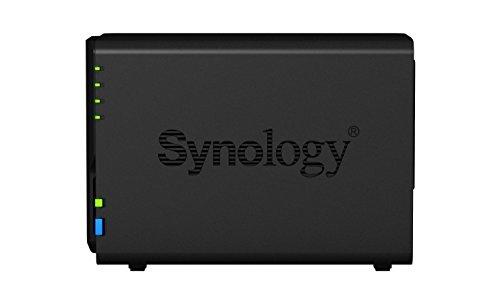 Synology DS218 + 6TB (2 x 3TB WD RED) 2 Bay Desktop-NAS-Einheit, 187007, Schwarz