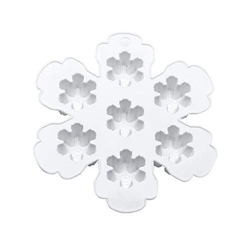 Yintiod Sneeuwvlok ijsblokjesschaal vormen DIY fondant chocolade siliconen pudding jelly bakgereedschap