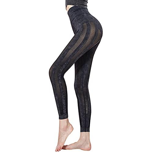 JNWBFC Leggings Pantalones Pantalones De Yoga Mujeres Cintura Alta Sin Costuras Elástico Transpirable Malla Levantamiento De Cadera Fitness Sexy Gimnasio Deportes Entrenamiento Push Up