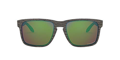 OO9417 Holbrook Xl Square Sunglasses, Woodgrain/Prizm Shallow h2o Polarized, 59 mm