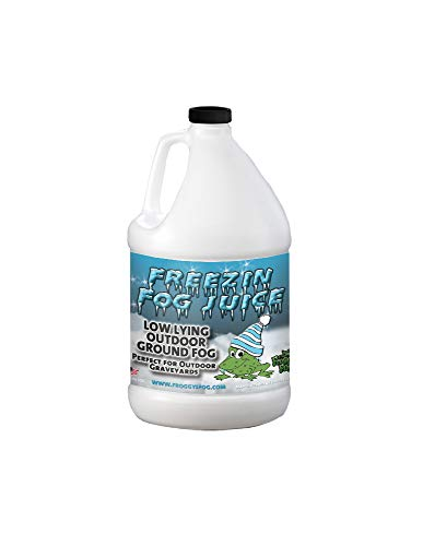Freezin Fog - Outdoor Low Lying Ground Fog Fluid - For Halloween, Theatrical Effects, Haunted Attractions (1 Gallon)