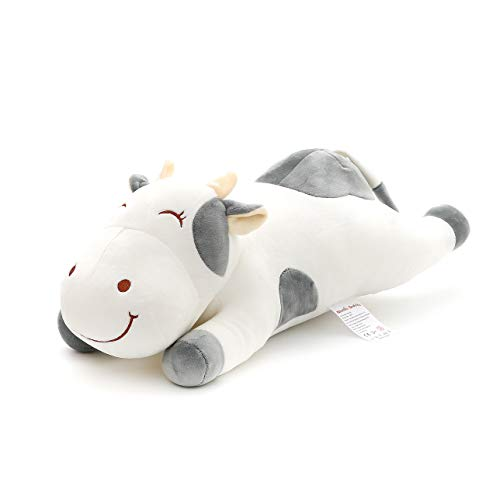 Niuniu Daddy Stuffed Animal Cow Plush Toy Pillow for Kids 19In Kawaii Soft Cuddly Stuffed Animal Pillow Gift for Girls Boy…