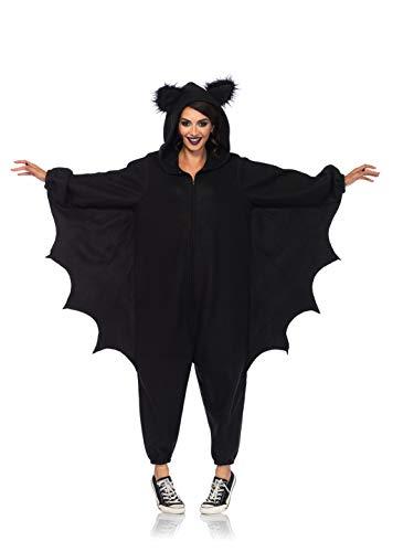 LegAvenue Damen Cozy Bat Onesie Kostüme, Black, O/S