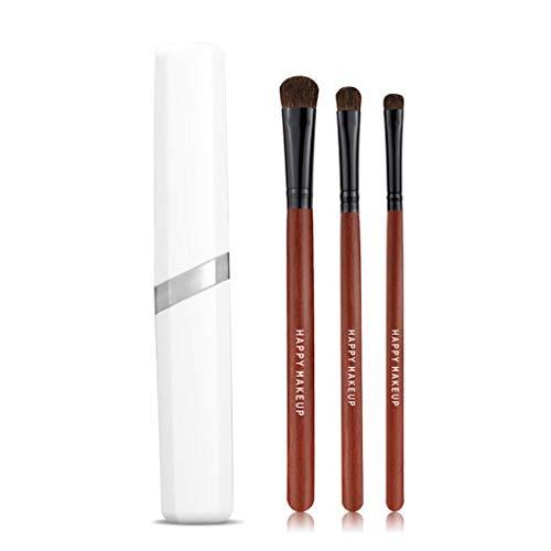 Fugift Maquillaje 3 Piezas Profesional Herramientas de Cepillo del Maquillaje de Sombra de Ojos Cosmética Pinceles para Principiantes compone cepillos