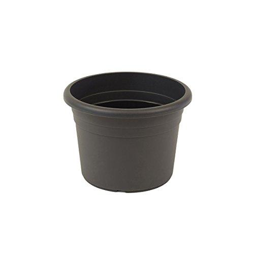 greemotion Pflanzkübel Fiona, UV-Beständiger Blumentopf aus Kunststoff, Pflanzgefäß mit Bodenlöchern, Volumen ca. 5 l, ca. Ø 25 x H 18 cm