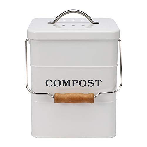 Great Price! ayacatz Stainless Steel Compost Bin for Kitchen Countertop Compost Bin,1 Gallon, Kitc...