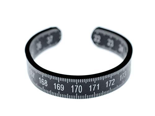 Miniblings Zollstock Armband Messen Maßband Metermaß Upcycling Recycling Schwarz - Modeschmuck Handmade - Damen Mädchen Bettelarmband