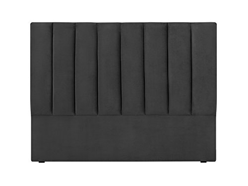 Cosmopolitan-Design Tête de Lit Tissu, Gris, 180 x 10 x 120 cm