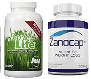 AIM BarleyLife - Barley Life Capsules 280-capsules Zanocap Diet Pills for Healthy Weight Loss and ephedra Free Fat Blocker for Weight Control 1 Bottle