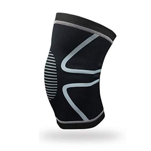 Piore 1PC Basketball Adult Kneecap Football Sport Support Leg Sleeve Knee Calf Compression Protectors Cushion,Black,M