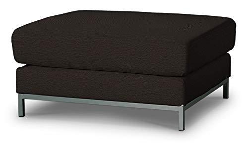 Dekoria Kramfors Hockerbezug Sofahusse passend für IKEA Modell Kramfors schwarz-braun