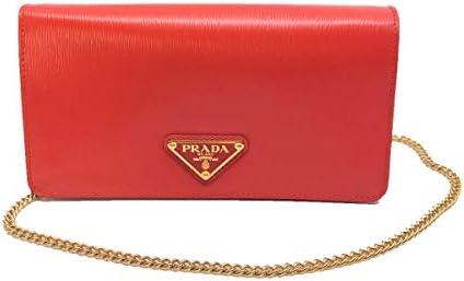 Prada Bandoliera Mini Crossbody Leather Lacca Red Triangle Logo1DH044 product image
