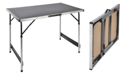 Mojawo XXL Aluminium Campingtisch Klapptisch Gartentisch Camping Universaltisch Reisetisch höhenverstellbar 100x60x75/80/85/90cm