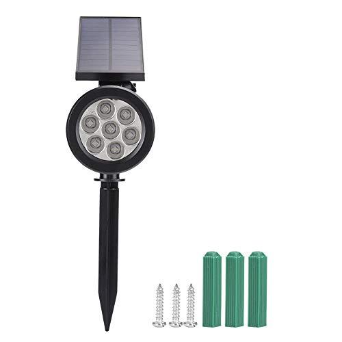 logozoee 7 LED sol spotlight, abs + ps material utomhus vägglampa, för utomhus väg damm bröllop trädgård