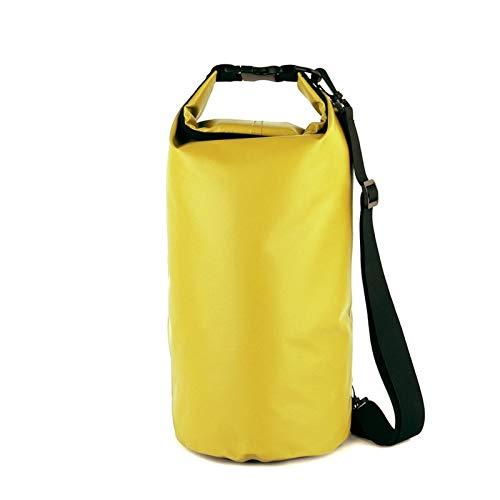 DaSenLa Motorcycle Bag Outdoor PVC Dry Sack Bag Waterproof 10L 20L 30L, Shoulder, Bag, Diving, Swimming, Hiking Driving Travel Kits DaSenLa (Color Name : Yellow 30L)