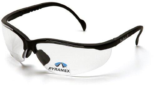 Pyramex Safety V2 Readers SB1810R20 stabile Schutzbrille mit integrierter Lesebrille/Weitsichtstärke +2.0 / besonders leichter Tragekomfort/farblose Gläser, klar