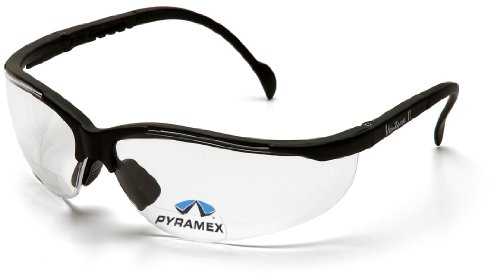 Pyramex Safety V2 Readers SB1810R20 - Occhiali protettivi con lenti da lettura trasparenti integrate, ingrandimento +2.0