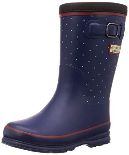 [ヒロミチナカノ] レインブーツ 靴 防寒 防滑 ゆったり 19~23cm キッズ HN WJ172R ネイビードット 20 cm 2E