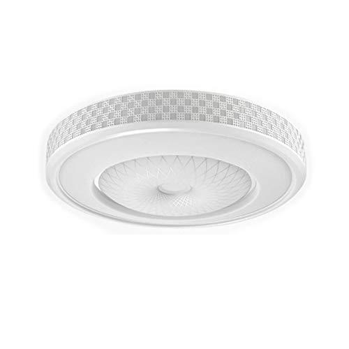 ZHANGL Lámpara de Techo de Dormitorio nórdico LED Embedded Round Hierro Arte Sala de Estar Luz de Techo Lámpara de atenuación Ajustable de Tres Colores (tamaño : 42cm)