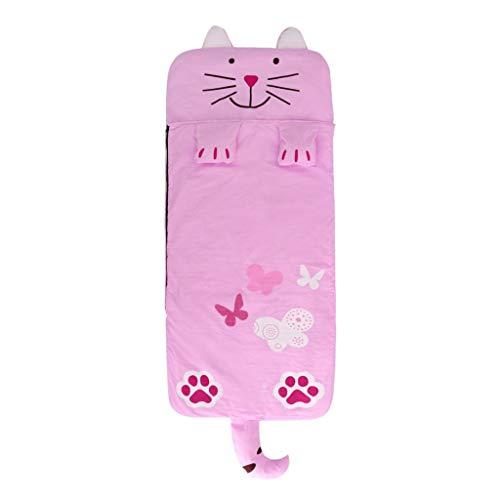 Fenteer Sac de Couchage Coton Impression Nid d'ange maternelle préscolaire tapis - Chat, Chat - 130x59cm
